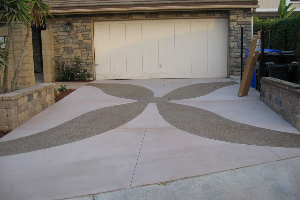 Interesting driveway design and construction