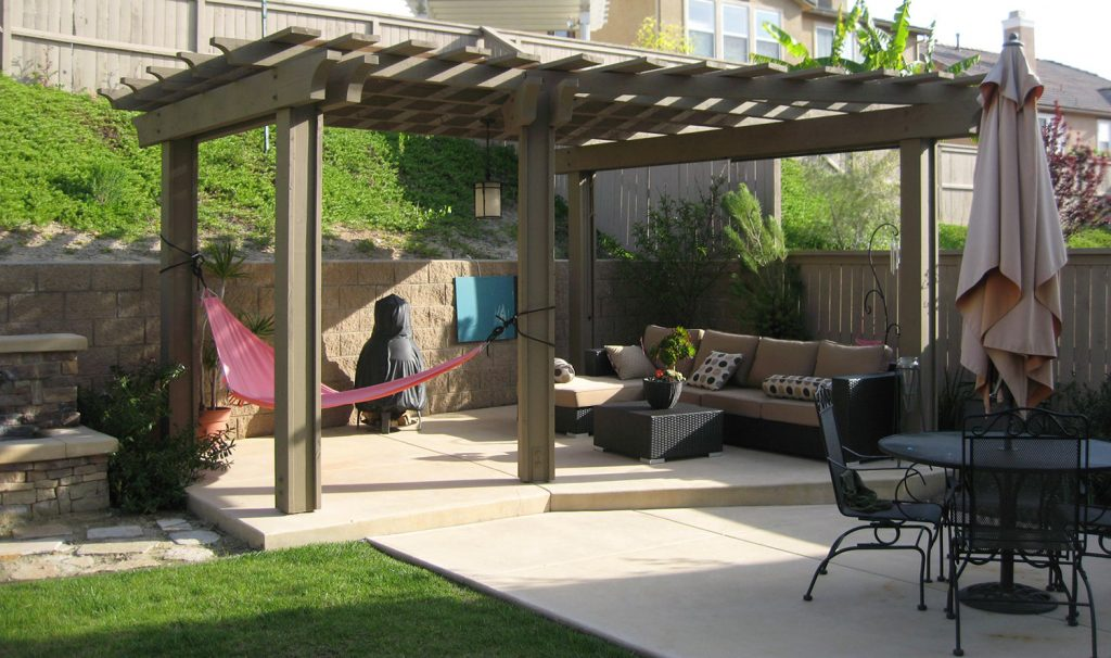 Pergola patio design and construction