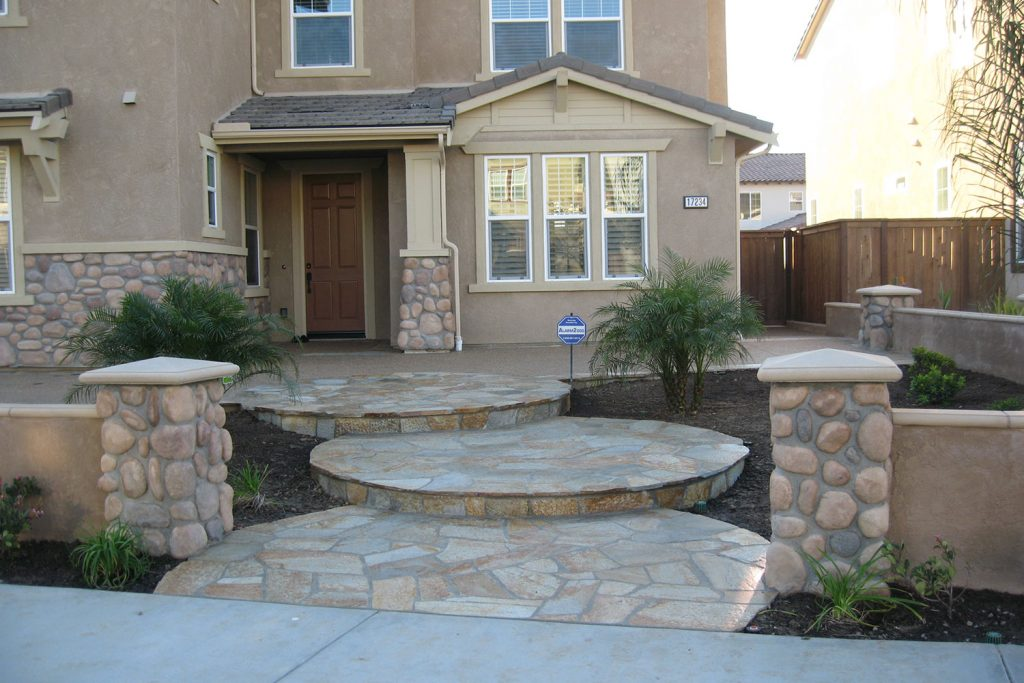 Stone wall and stairs design and construction