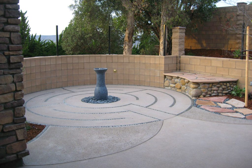 Privacy wall and labyrinth design and installation