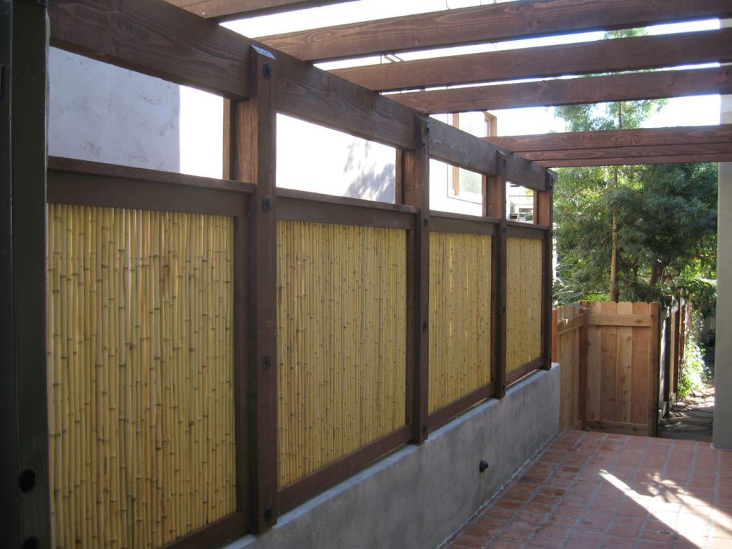 Modern bamboo fence construction