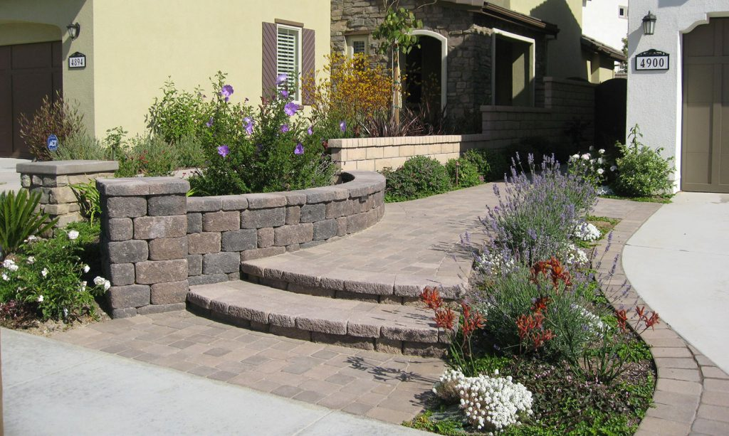Paver entry and steps construction