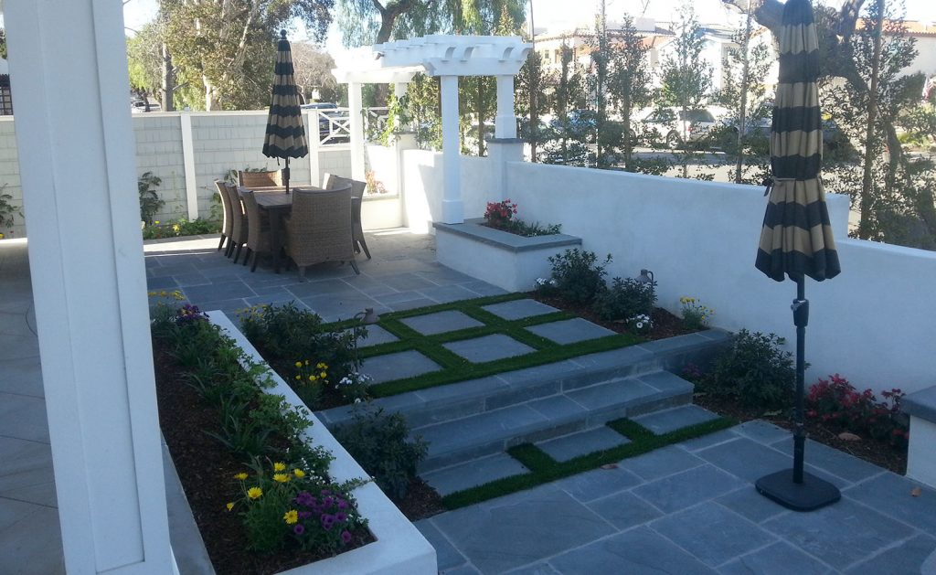Bluestone patio design and installation