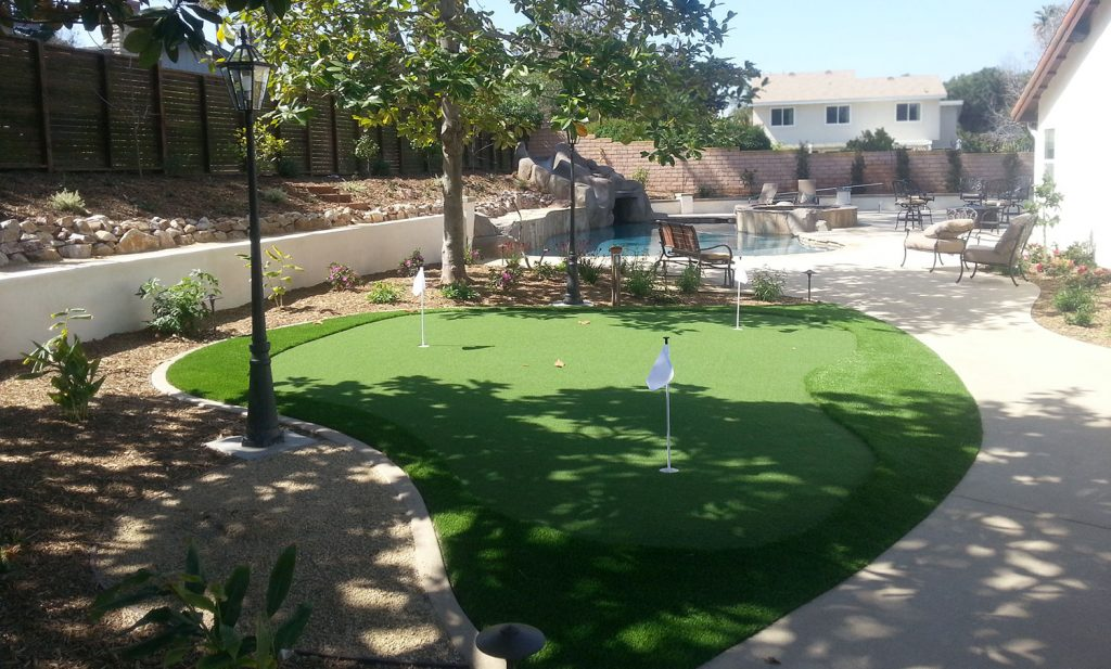 Build a putting green in your back yard