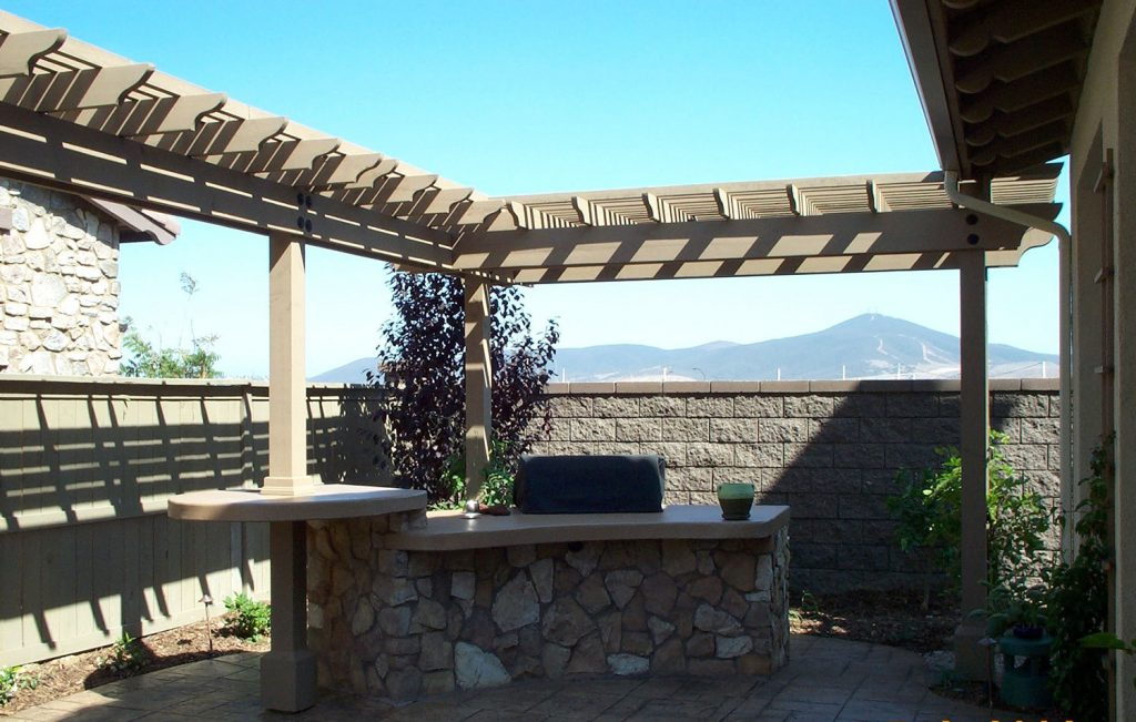 Outdoor entertaining area construction