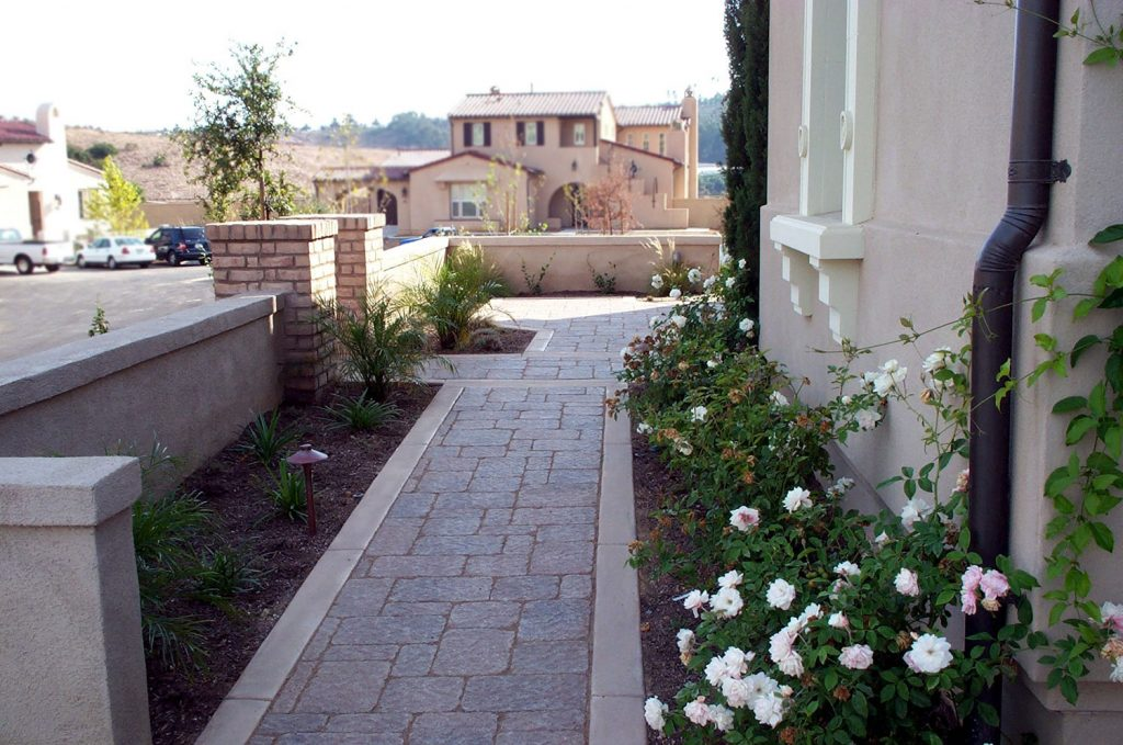 Brick walkway design and construction
