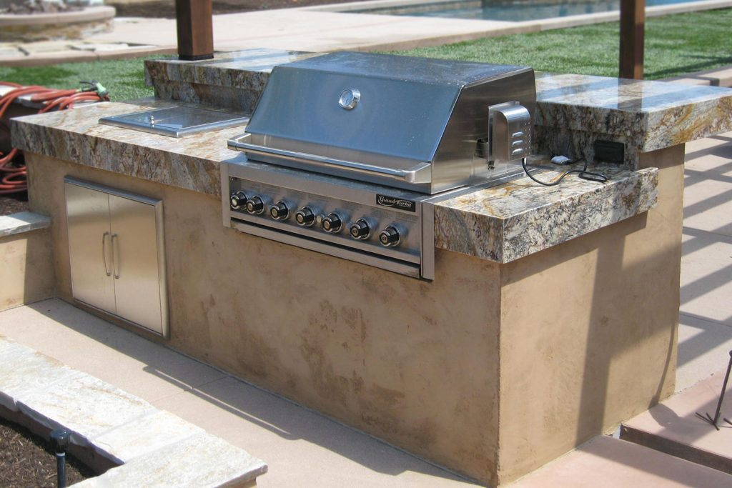 Barbecue island contractor