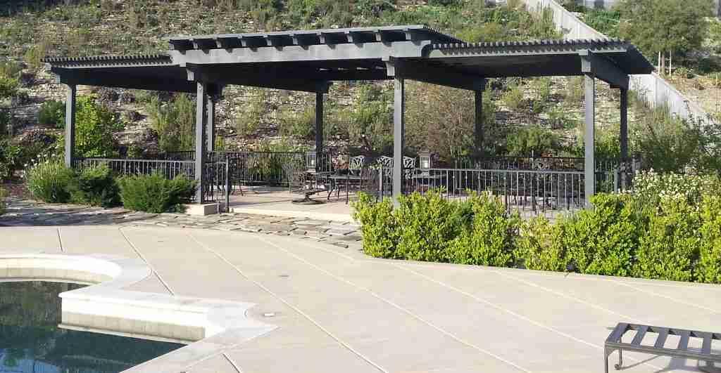 Large pergola patio construction