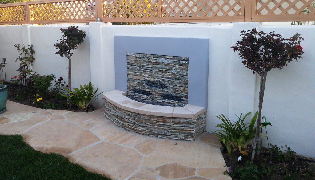 Rock water feature design and construction