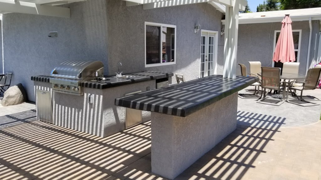 Construct outdoor grill and island